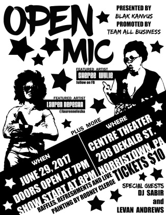 Blak Kanvus Open Mic Night
